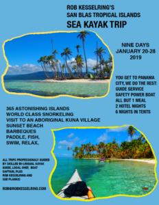 Rob Kesselring's San Blas tropical islands sea kayak trip