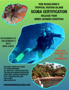 Rob Kesselring's tropical Roatan Island scuba certification